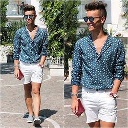 Marco Santoro - Zara Shirt - Blue of the day