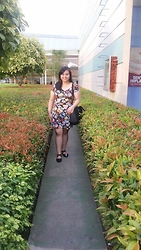 Jona Claire Castañeda - Forever 21 Dress, Lacoste Bag, Lady Gratitude Ballerina Flats - { IN A GARDEN OF LEAVES }