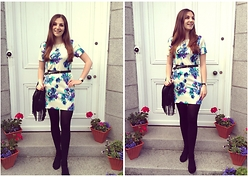 Helen D* - Asos Floral Dress - Baby Blue