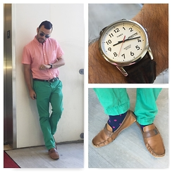 Terry - Timex Watch, Calvin Klein Loafer, American Eagle Trousers, J. Crew Shirt - Daily Wear: 8.13.15