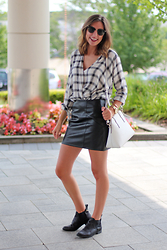 Alexis Kelly - Hollister Shirt, Asos Skirt, Target Boots, Kate Spade Purse - Brunch.