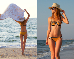 Ruxandra Ioana - Triangl Swimsuit, Coconut Anonymous Beach Towel - A day at the beach