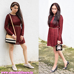 Shifa Merchant - Shop4less Swing Dress, Boga Be In Style Handbag, Forever 21 Hairband, Boga Be In Style Telephone Clutch - My Day-to-Night Birthday Swing Dress Look!
