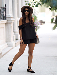 Kayla Seah -  - Black Off Shoulder