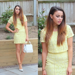 Jessica Sheppard - Missguided Top, Missguided Skirt, Missguided Bag, Missguided Shoes - THEY CALL IT MELLOW YELLOW.