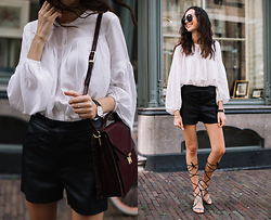 Bea G - Blouse, Shorts, Bag, Sandals - Gladiator Sandals