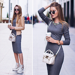 Tatiana Vasilieva - Love Republic Grey Midi Dress - Day & Night