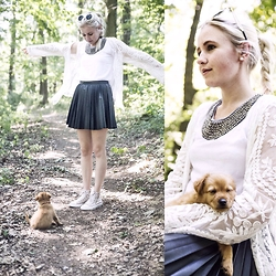 Nicola Marleen - Dresslink Top, Sassy Classy Jacket, H&M Skirt, Converse Shoes - In the Woods