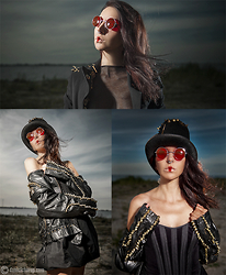 Lena B. - Green Funky Hat, Jackets, Wardrobe Dress, Daniel Chorup Photography - Steampunk
