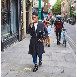 Karan S - Dr. Martens Shoes, Primark Clutch, Primark Coat - WALKABOUT