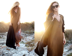 Sirma Markova - Mango Maxi Dress, 27jewelry Ring, Mango Wool Cardigan, Take My Yellow Dress Necklace - Salty Air, Sunkissed Hair
