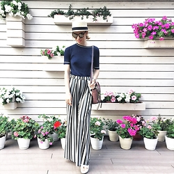 Valeriya Sytnik - H&M Pants, Zara Too, Phillip Lim Bag - Stripes