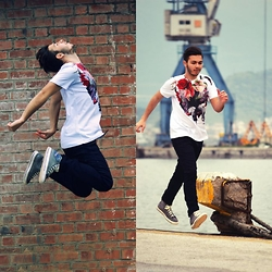 George Anagnostou - Diesel Spring 2015 T Shirt, Diesel Jogg Jeans, Diesel Grey Sneakers - On The Go