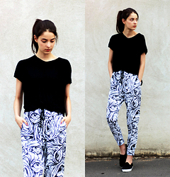 Nora Aradi - Mr. Gugu & Miss Go Pants, Mango Top, Asos Slip Ons - 08.20.
