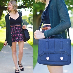 Lauren Douglas - Asos Large Scallop Satchel, H&M Fine Knit Cardigan - Summer Nights in a Long Cardigan