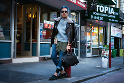 Brandon Tran - Acne Studios Jacket, Givenchy Bag, Alexander Wang Sweater - Breathe in, breathe out