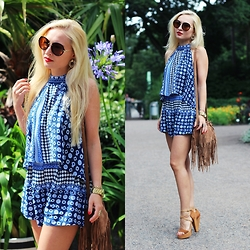 Justyna B. - Top, Shorts - Blue two piece set