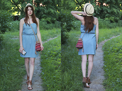 Anna Aleshina - Only Denim Dress, New Look Flat Sandals, New Look Duffle Bag - Dream catcher