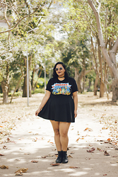 Camilla Soares - Consulado Do Rock We're A Happy Family Ramones Tee, Wear Ever High Waisted Skirt - WHEN I WAS YOUNG