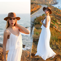 Fatine Zaimi - Stradivarius Hat, Mango White Dress, Bershka Sandals - WHEN FASHION MEETS NATURE