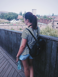 Silvia F. - Zara T Shirt, Pimkie Backpack, Bsb Pants - Summer days
