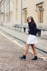 Emma Felin - Topshop Jumper, Zara Dress, Antonio Miro Backpack, Zara Loafers - Colour Me Monochrome