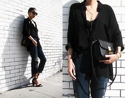 Visa Lom - Plastictail Simple Cat Eye Sunglasses, Holypink Classic Box Bag, Denimocracy Tomboy Skinny Jeans - Denimocracy
