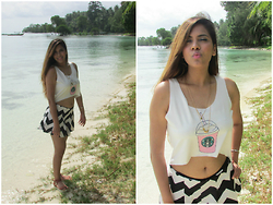 Pooja Mittal - Starbucks Crop Top - Havelock Beach Outfit: Crop Top style