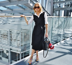 Karine Kollshaugen - Pulz Jeans Dress, Fendi Bag, Valentino Shoes, Pulz Jeans Shirt - Back to basics