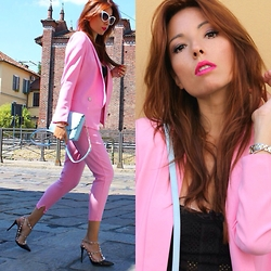 Elisa Bellino - Valentino Shoes, Asos Bag, Choies Pants, Choies Jacket - Pink tailleur