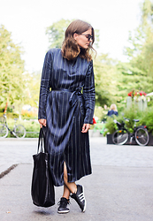 Ingrid Wenell - Stylein Dress, Adidas Sneakers, Asos Sunglasses - Stockholm Fashionsweek Day 1