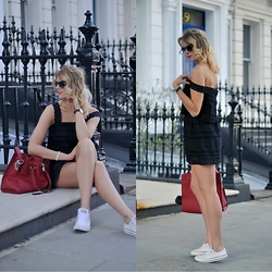 Monchanvre - Michael Kors Bag, Topshop Dress, Converse Shoes, Michael Kors Sunglasses - Black casual