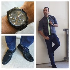 Terry - Michael Kors Watch, Calvin Klein Shirt, Old Navy Jeans, Marc Anthony Loafers - Daily Wear: 8.25.15