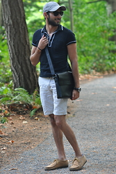 Hector Diaz - Topman Black Polo T Shirt (Similar), Club Monaco Shorts (Similar), Armani Exchange Hat (Similar), Clarks Shoes - 28 Years and Counting