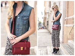 Meagan Brandon -  - Denim & Leopard