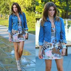 Yoschimoto - Zara Retro Floral Dress, Levi's® Jeans Jacket - SUMMER LOOK: JEANS JACKET