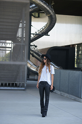 Tamy's Fashion World - H&M Hat, Zara T Shirt, Bershka Pants, Stradivarius Shoes - Hat