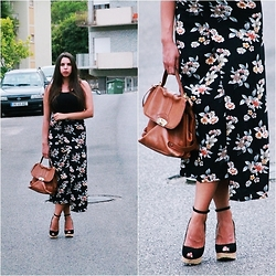 Our Own Runway Oana and Andreea - Zara Shoes - Floral print