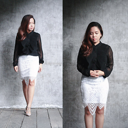 Fhenny Z - Zaful Lace Skirt, Valentino Shoes - Good things take time