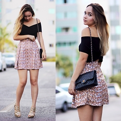 Ana Luísa Braun - Mr. Gugu & Miss Go Skirt, Choies Top, Chanel Bag - GOLDEN DAYS