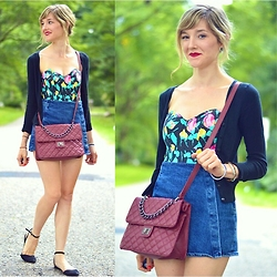 Lauren Douglas - Forever 21 Quilted Faux Leather Crossbody, Modcloth First Things Flirt Skort - Favorite Summer Pieces