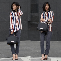 Claire Liu - Topshop Shirt, Theory Pants, Zac Posen Bag - The Perfect Lines