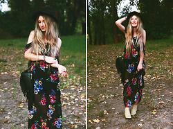 ♡Anita Kurkach♡ - Sheinside Dress, Sheinside Shoes, Persun Hat - BOHO OUTFIT!