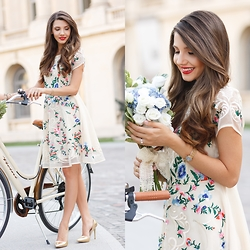 Larisa Costea - Chicwish Dress - Flowers and bikes
