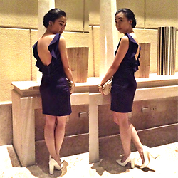 Nadine Julian - Gtw Fab Blue Backless Dress, Kultura Filipino Weaved Clutch, Parisian White Pumps - Look Back & Pay It Forward