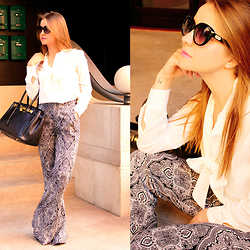 Carmen Antal -  - How to use printed flare pants - Episode 2