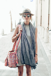 Laugh of Artist - Boohoo Dress, La Mochilla Bag, Fashion Pills Glasses - St Tropez