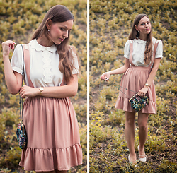 Kamila L - Asos Blouse, Miss Patina Skirt, Asos Purse, United Colors Of Benetton Flats - Miss