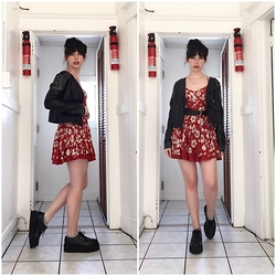 Paula Gallagher - T.U.K. Footwear Creepers - Little Red Dress & Mondo Creepers