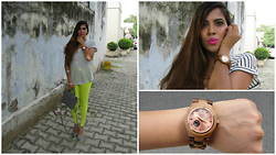 Pooja Mittal - Cora Rosegold Watch - Wooden Watch- Really!